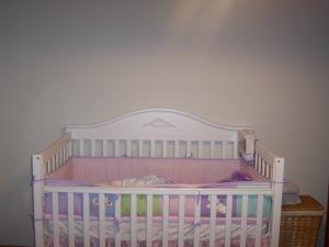 Livi's crib.