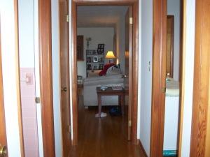 Hallway looking toward the living room.
