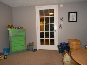 French door was perfect for the playroom, but we need a new door now.