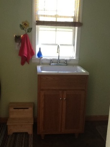 We love this sink. Good for laundry, giving the dog a bath, and cleaning up paint projects.